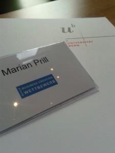 Deutsche Handarbeit - Marian Prill freut sich über die Einladung der Universität Bern zum Berner Elevator Pitch i
