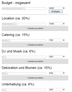 Deutsche Handarbeit - konzipiert den Suisse Wedding Planner